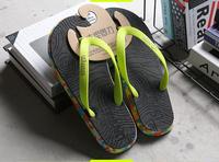 Плажни мъжки гумени чехли през пръст в няколко разцветки