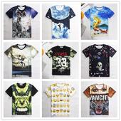 """Интересни камуфлажни младежки тениски с интересни цветни мотиви, Емотикони и други актуални 3D принтове модел с """"Бирени шишета"""""""