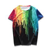 Летни цветни тениски за мъже топ модели на бял и черен фон 3Д щампа