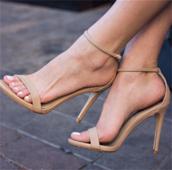 Дамски отворени обувки на висок ток със закопчаване на глезена - 4 цвята
