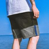 Ежедневни мъжки къси панталони в черен и син цвят