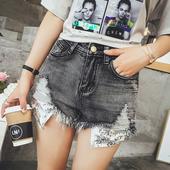 Стилни и модерни дамски къси панталони с джобове в пайети и висока талия