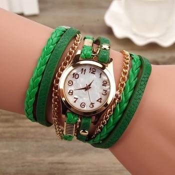 Много интересен и стилен дамски часовник тип гривна - 8 цвята