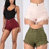 Къси дамски панталони, подходящи за ежедневие в няколко цвята и накъсани