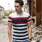 Мъжка ежедневна блуза с якичка и преливащ цвят - 2 модела