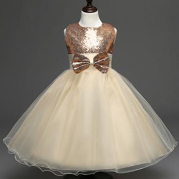 Официална детска рокля за момичета с панделка в горната част - 14 модела