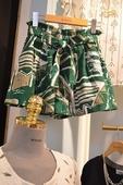 Стилни къси дамски шорти в зелен цвят с панделка