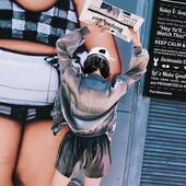 Летен дамски комплект - къси панталони и сиучер