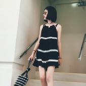 Дамска стилна рокля в черен цвят