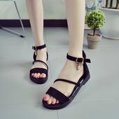 Красиви дамски сандали в черен и сив цвят, подходящи за ежедневието