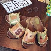 Интересни дамски чехли с надпис и изображение