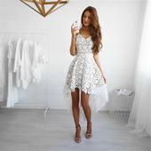 Дамска пролетна и лятна рокля подходяща за плаж и ежедневие  - бяла, черна, синя, розова, червена