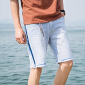 Летни мъжки къси панталони в светъл цвят