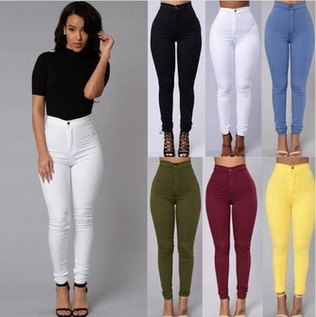 Уникален дамски дънков ежедневен панталон - 4 цвята