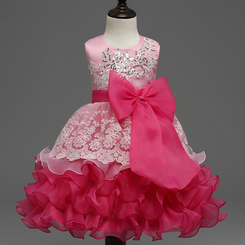 Уникална рокличка за момиченце с много красива панделка - 4 цвята