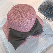 Много красива детска шапка за момичета с панделка в три цвята