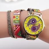 Много интересен часовник тип гривна - 6 цвята