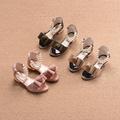 Детски сладки сандали с панделка и мъниста