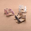 Сладки детски сандали с панделки в няколко цвята