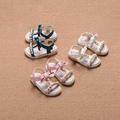 Детски сандали за момичета с мъниста и панделка