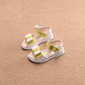 Сладки детски сандали за момичета с панделка и цвете