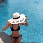Страхотна плажна шапка с бродиран надпис - 11 модела