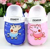 Удобни гумени сандали за момичета и момчета в розов и син цвят