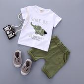 Стилен детски комплект за момчета - тениска с анимационно изображение и панталон