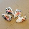 Красиви детски кецове с флорална 3D декорация