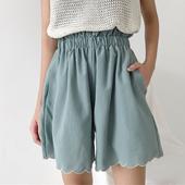 Ластични дамски къси панталони в свободен стил