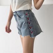 Модерни дамски къси панталони с висока талия