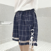 Свежи дамски къси панталони - ластични и с връзки  в широк модел