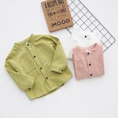 Свежа детска риза с дълъг ръкав в различни цветове