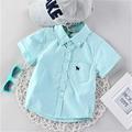 Красива детска риза за момчета с къс ръкав и в два цвята
