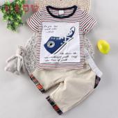 Ежедневен детски комплект за момчета -тениска с изображение и панталони