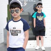 Красива детска блуза за момчета с надпис и различни цветове