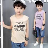 Детски потник за момчета с надписи в свободен стил