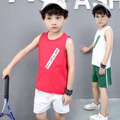 Спортен детски комплект за момчета - потник с къси панталони