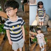 Комплект за момчета с раирана блуза, подходящ за ежедневие