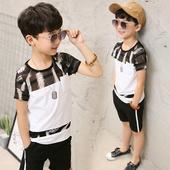 Ежедневен комплект за момчета в черно-бял цвят