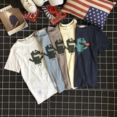 Ежедневна мъжка тениска в различни цветове с карикатура