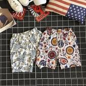 Цветни мъжки шорти с връзки в 2 модела
