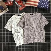 Свежа тениска за мъжете в два цвята с картинки на коте