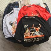 Ежедневна мъжка тениска в няколко цвята с карикатура