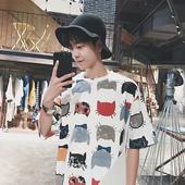 Мъжка тениска в два цвята с изображения