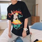 Ежедневна тениска в три цвята с изображение и надписи