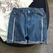 Изчистен модел мъжки дънкови къси панталони
