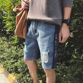 Стилни мъжки къси панталони тип Слим и накъсани