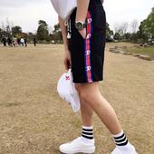 Свеж модел мъжки шорти с връзки, подходящи за ежедневие