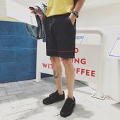 Семпъл модел дънкови къси панталони за мъже в два цвята